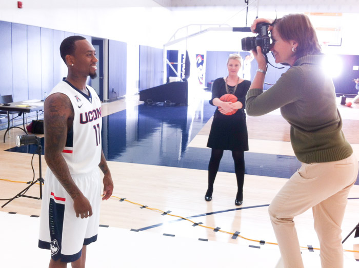 UConnBasketball Werth Center Ryan Boatright Photo Shoot for SNY